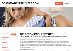 The Best Amateur Paysites